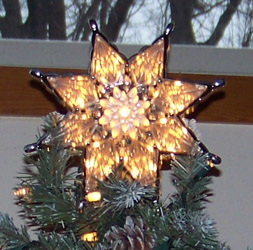 Pointsetta Tree Topper with lights